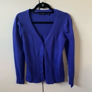 Indigo Willi Smith Sweater Cardigan Bright Purple